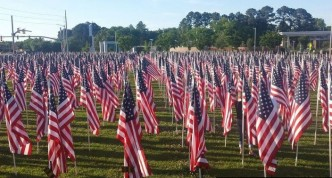 Flags at the 82 Airborne Museum, Fayetteville, NC